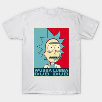 2017 Summer Hot Cool Rick and Morty Men T-Shirt Wubba Lubba Dub Dub Printed Anime T Shirt White Modal Funny Clothes Tops Tees