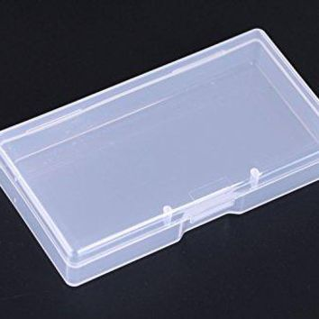 Mini Skater High Transparency Visible Plastic Box Clear Storage Case collection Organizer Container with Hinged Lid For Organizing Small Parts Office Supplies Clip Cotton Swab 8 Pcs