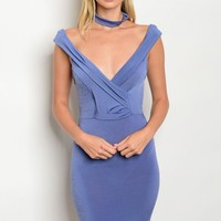 C28-A-2-D6069 INDIGO CHOKER DRESS 2-2-2