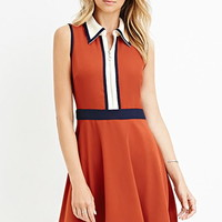 Contemporary Colorblock Collared Dress