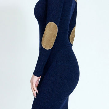 Chic Fall Midi Navy