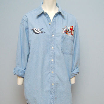 Remarkable question vintage looney tunes denim shirts can not