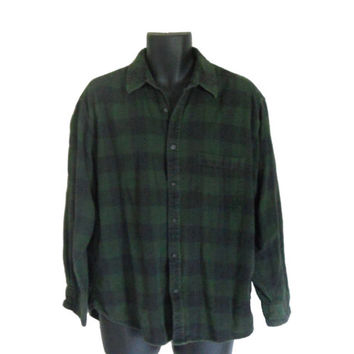 Shop green flannel shirts for men on wanelo for Green and black plaid flannel shirt