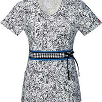 Dickies Print Scrubs - Dickies Mock Wrap and V-Neck Tops