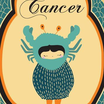CANCER Zodiac Sign by ParadaCreations on Etsy