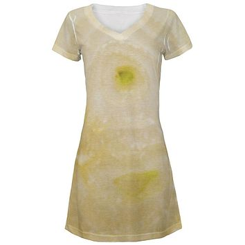 Halloween Yellow Sweet Onion Costume All Over Juniors Beach Cover-Up Dress