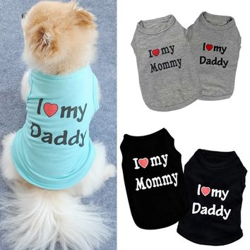 I Love My Dad/Mommy T-shirt