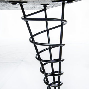 "Modern Table Legs, 12"" Coffee Table Height, Stronger Than Hairpin, Single Leg"