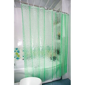 180X180cm 3D Water Cube Design water resistance bathing Shower Curtain Bathroom Waterproof Fabric EVA Curtains