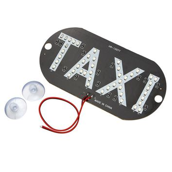 LED Car Windscreen Cab Indicator Taxi Lamp Sign 45 LED Chips Blue Windshield Taxi Light DC 12V Car-styling Auto Light Source