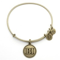 Alex and Ani Block Island Initials Charm Bangle - Russian Gold