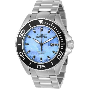 Invicta Men's 23067 Pro Diver Quartz 3 Hand Platinum Dial Watch