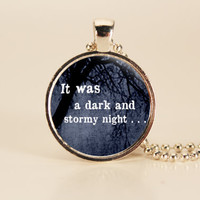 Dark and Stormy Night Quote Charm for Readers and Writers