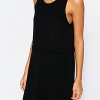 ASOS Split Front Layered Column Dress at asos.com