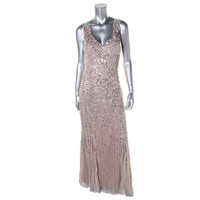 Aidan Mattox Womens Mesh Prom Evening Dress