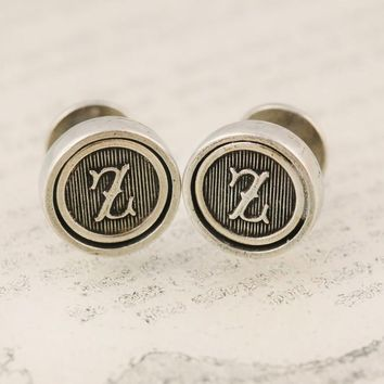 Lately • Pewter Initial Cufflinks