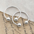Adjustable Double Ball Sterling Silver Ring