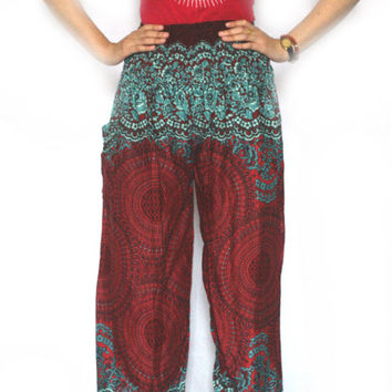 hippie clothes Thai fisherman pants palazzo pants boho pants harem pants/elephant pants/yoga pants/pyjamas/bohemian pants/baggy pants