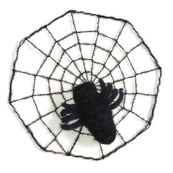 Organic Catnip Toy - Silky the Spider - Hand Knit Felted Cat Toy - Dont Fear the Creeper