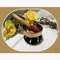 Buddhist Meditation Singing Bowl & Striker
