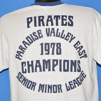 70s Pirates Paradise Valley East Champions Ringer t-shirt Large