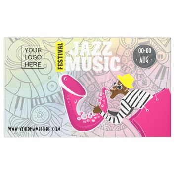 Colorful Jazz Music Festival add logo personalized Banner