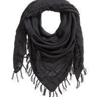 Scarf with Lace - from H&M