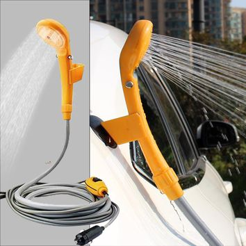 Car Washer portable Camping Shower set USB car shower DC 12V pump pressure shower Outdoor Travel Caravan Van for Pet water tank