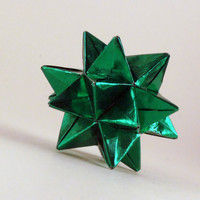 Origami Green Star Ornament  by CreativeLifeByEmily
