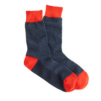 J.Crew Mens Microhoundstooth Socks