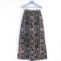 25% OFF STOREWIDE! Vintage embroidered southwestern maxi skirt