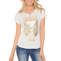 Hoot Hoot Owl Top - White