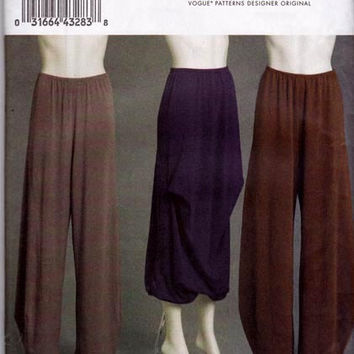 PLUS Size Marcy Tilton Slouch Pants & Skirt Sewing Pattern Vogue V8637 Size 16 18 20 22 24 UNCUT FF