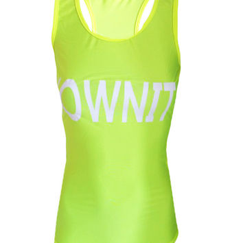 #OWNIT - Yellow - Beach Fitness Tank Top