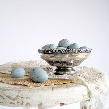 Decorative Robins Eggs Blue Artificial 2 Dozen Speckled by birdie1