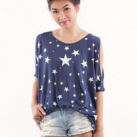 Star Spangled Tee | Shop the American Flag Trend at MessesOfDresses.com