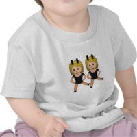 Woman With Bunny Ears Emoji Shirt