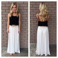 Cream Bella Maxi Skirt