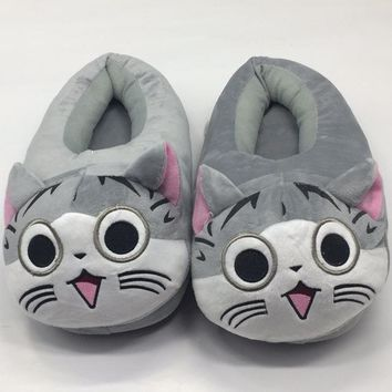 Cute Cartoon Cat Slippers Totoro Gray in Several Sizes