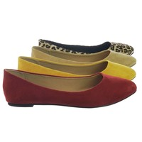 Redbud Womens Almond Toe Ballet Flats w Comfortable Padded Insole