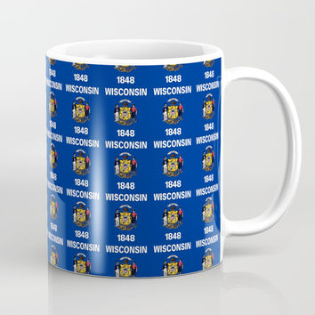 flag of winconsin 2-america,usa,midwest,great lakes, Wisconsinite, Badger, Dairyland, Coffee Mug by oldking