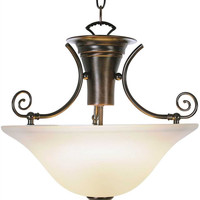 WELLINGTON™ PENDANT CEILING FIXTURE WITH TWO 40 WATT COMPACT TYPE FLUORESCENT LAMPS, 16-1/4 IN.