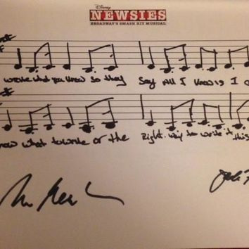 Disney's Newsies Musical Phrase - Signed