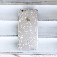 "Clear Plastic Case Cover for iPhone 6 (4.7"") Henna Constellation"