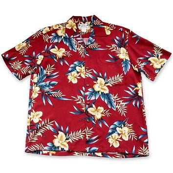 Midnight Maroon Hawaiian Rayon Shirt