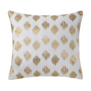 Ink+Ivy Nadia Dot Embroidered 18-inch Cotton Throw Pillow   Overstock.com Shopping - The Best Deals on Throw Pillows