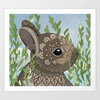 Baby Bunny Art Print by ArtLovePassion