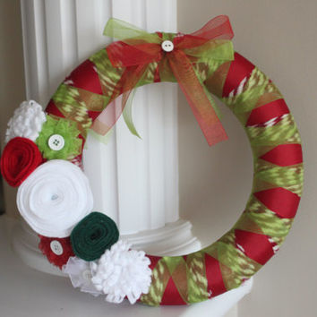 Christmas Wreath, Holiday Wreath, Christmas Decorations, Holiday Decorations, Perfect Christmas gift, Teacher's gift, Hostess Gift