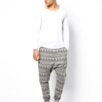 ASOS Drop Crotch Lounge Sweatpants With Fairisle Print