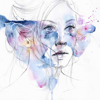 water show Art Print by Agnes-cecile | Society6